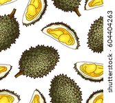 vector seamless pattern with... | Shutterstock .eps vector #604404263