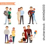 set of characters showing the...   Shutterstock .eps vector #604406033