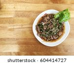 thai hot and spicy minced meat... | Shutterstock . vector #604414727