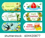 easter greeting tag and label... | Shutterstock .eps vector #604420877