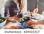 happy romantic couple...   Shutterstock . vector #604422317