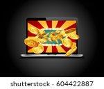 bright retro banner for online... | Shutterstock .eps vector #604422887