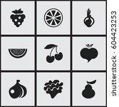 set of 9 editable dessert icons....