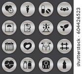 set of 16 editable lifestyle... | Shutterstock .eps vector #604426523