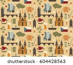 seamless background with... | Shutterstock .eps vector #604428563
