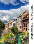 the ill river in petite france... | Shutterstock . vector #604429883