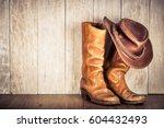 Wild West Retro Leather Cowboy...