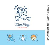 tooth fairy logo children's...