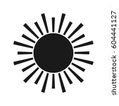 sun vector black icon. element... | Shutterstock .eps vector #604441127