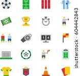 soccer football colored flat... | Shutterstock .eps vector #604442843