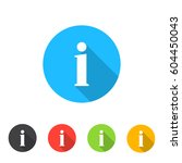set of information icons | Shutterstock .eps vector #604450043