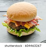 cheese burger | Shutterstock . vector #604463267