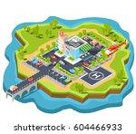 vector isometric illustration... | Shutterstock .eps vector #604466933