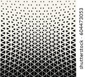 geometric triangle halftone... | Shutterstock .eps vector #604473053