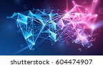 global network connection.... | Shutterstock .eps vector #604474907
