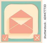 postal envelope sign. e mail...   Shutterstock .eps vector #604477733