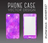case for mobile phone with... | Shutterstock .eps vector #604489337