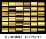 gold gradient premium vector... | Shutterstock .eps vector #604491467