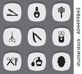 set of 9  hairstylist icons....