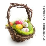 Colorful Painted Easter Eggs I...