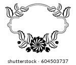 silhouette round frame.... | Shutterstock .eps vector #604503737