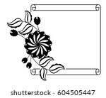 paper roll  with flowers... | Shutterstock .eps vector #604505447