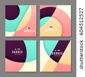 set of banner templates. bright ... | Shutterstock .eps vector #604512527
