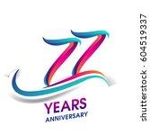 seventy seven years anniversary ... | Shutterstock .eps vector #604519337
