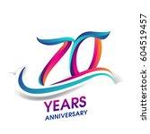 seventy years anniversary... | Shutterstock .eps vector #604519457