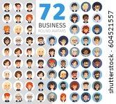 big set of 72 flat cartoon... | Shutterstock .eps vector #604521557