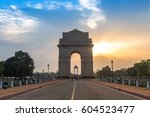 India gate delhi at sunrise...