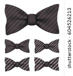 black bow tie with white...   Shutterstock .eps vector #604526213