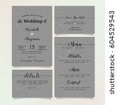 beautiful vintage wedding...   Shutterstock .eps vector #604529543