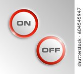 web round button with on off...
