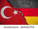 germany vs turkey  red turkey... | Shutterstock . vector #604562753