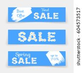 set of sale banners or website... | Shutterstock .eps vector #604573517