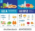 set of vitamins a and vitamins... | Shutterstock .eps vector #604583003