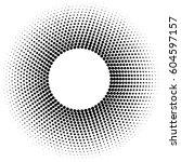 black  circle frame halftone... | Shutterstock .eps vector #604597157