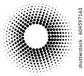 black  circle frame halftone... | Shutterstock .eps vector #604597163