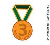 bronze medal sign. symbol of... | Shutterstock .eps vector #604598753