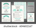vintage wedding invitation... | Shutterstock .eps vector #604602167