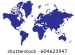 high detailed blue vector world ... | Shutterstock .eps vector #604623947