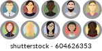 set of avatar icons. male and... | Shutterstock .eps vector #604626353