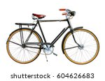ride bicycle isolated on white... | Shutterstock . vector #604626683