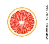 vector grapefruit slice.... | Shutterstock .eps vector #604644833