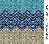 seamless ethnic geometric... | Shutterstock .eps vector #604652897