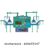 production process on the line...   Shutterstock .eps vector #604655147
