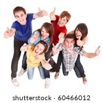 group people with thumbs up.... | Shutterstock . vector #60466012