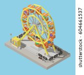 isolated ferris wheel and... | Shutterstock .eps vector #604661537