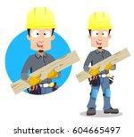 vector illustration of cartoon... | Shutterstock .eps vector #604665497